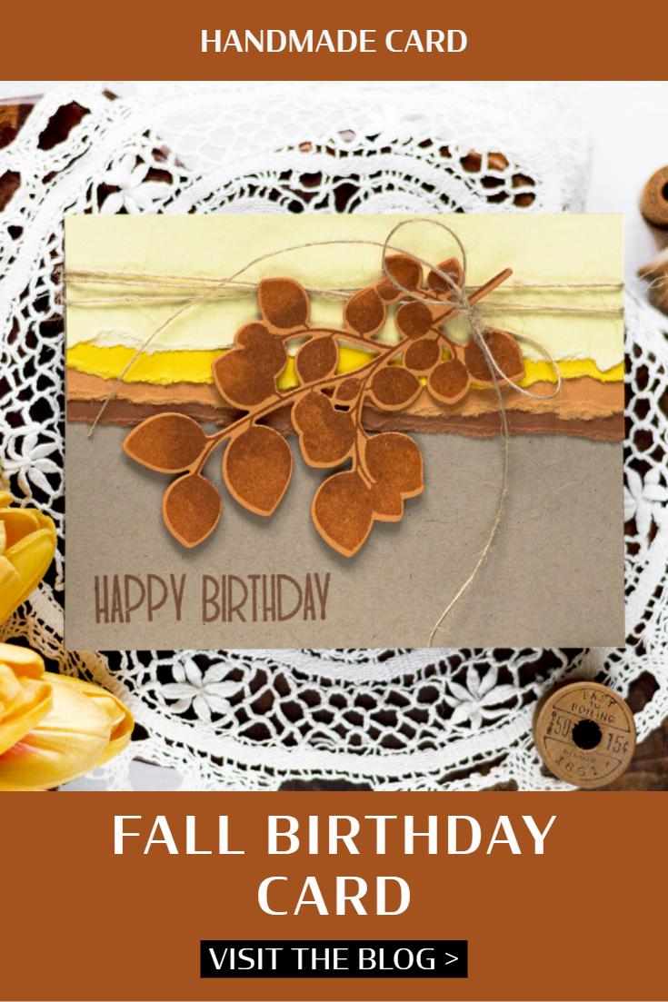 Fall Birthday Card. Card by Svitlana Shayevich