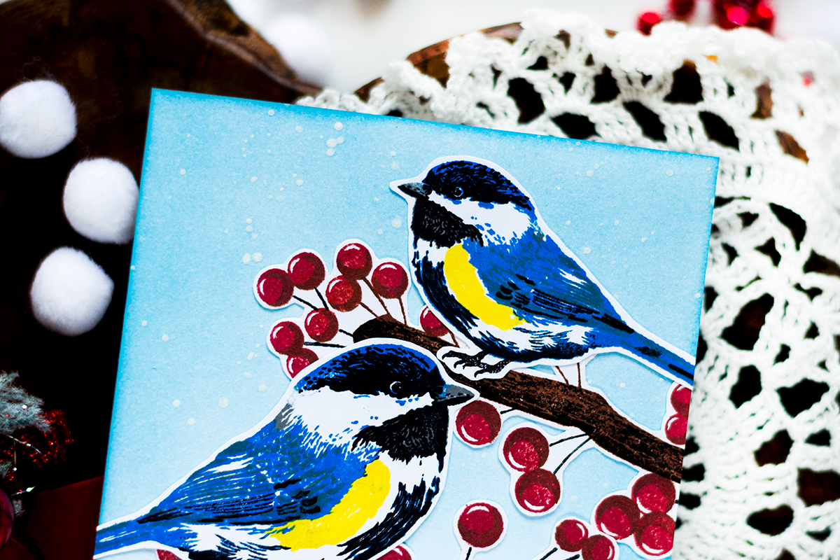 Winter Tit Holiday Card. Card by Svitlana Shayevich