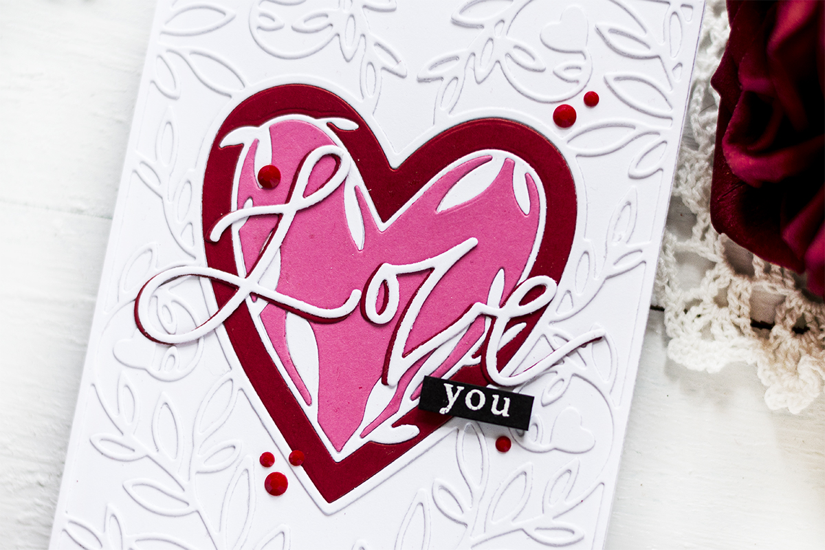 Die-Cut Inlay Valentine Card. Card by Svitlana Shayevich