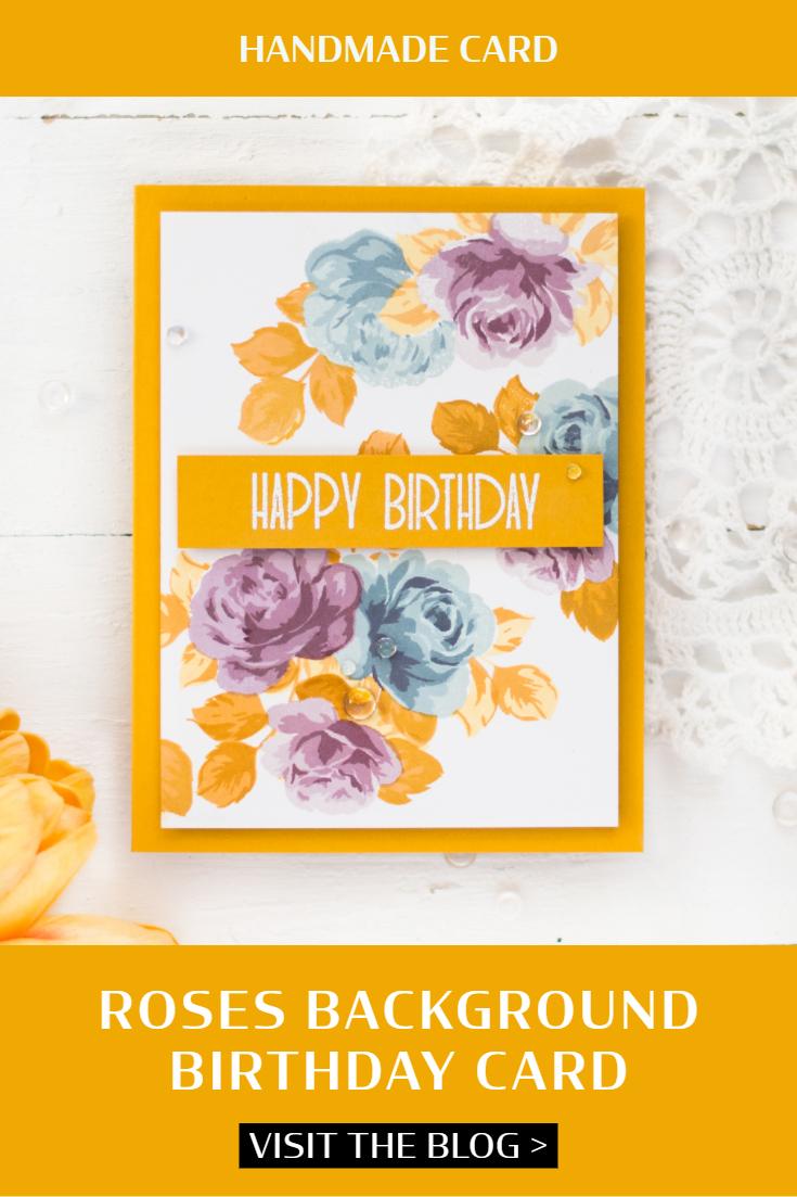 Roses Background Birthday Card. Card by Svitlana Shayevich