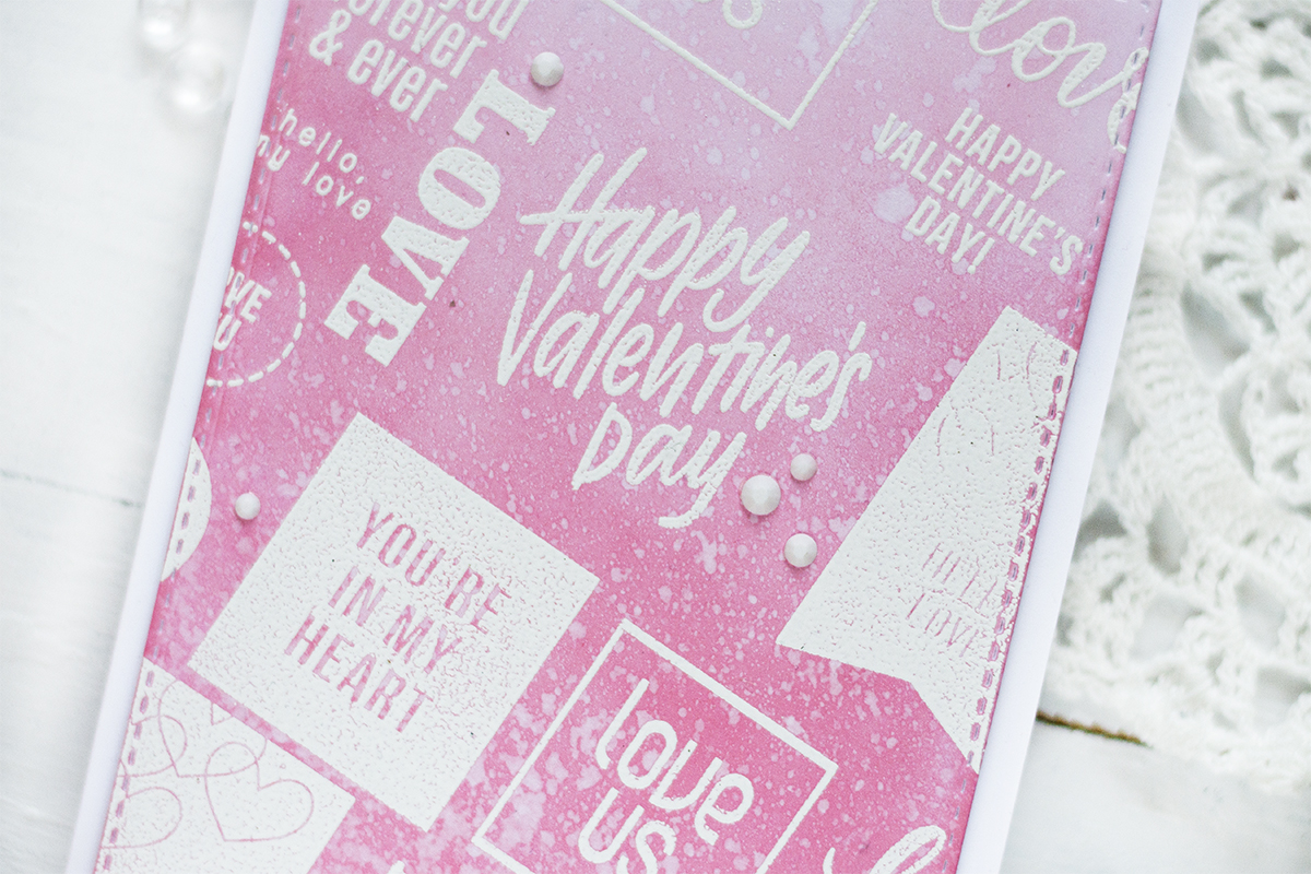 Pink Ombre Valentine Card. Card by Svitlana Shayevich