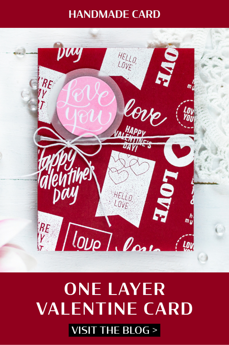One Layer Valentine Card. Card by Svitlana Shayevich
