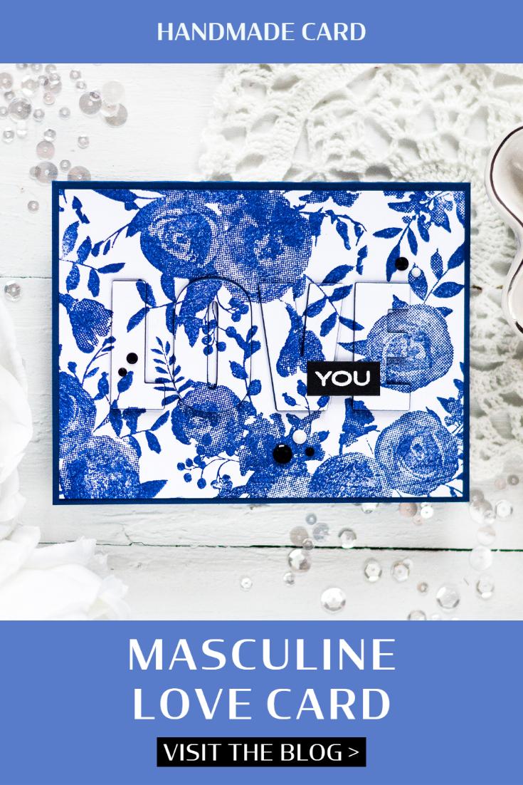 Masculine Love Card. Card by Svitlana Shayevich