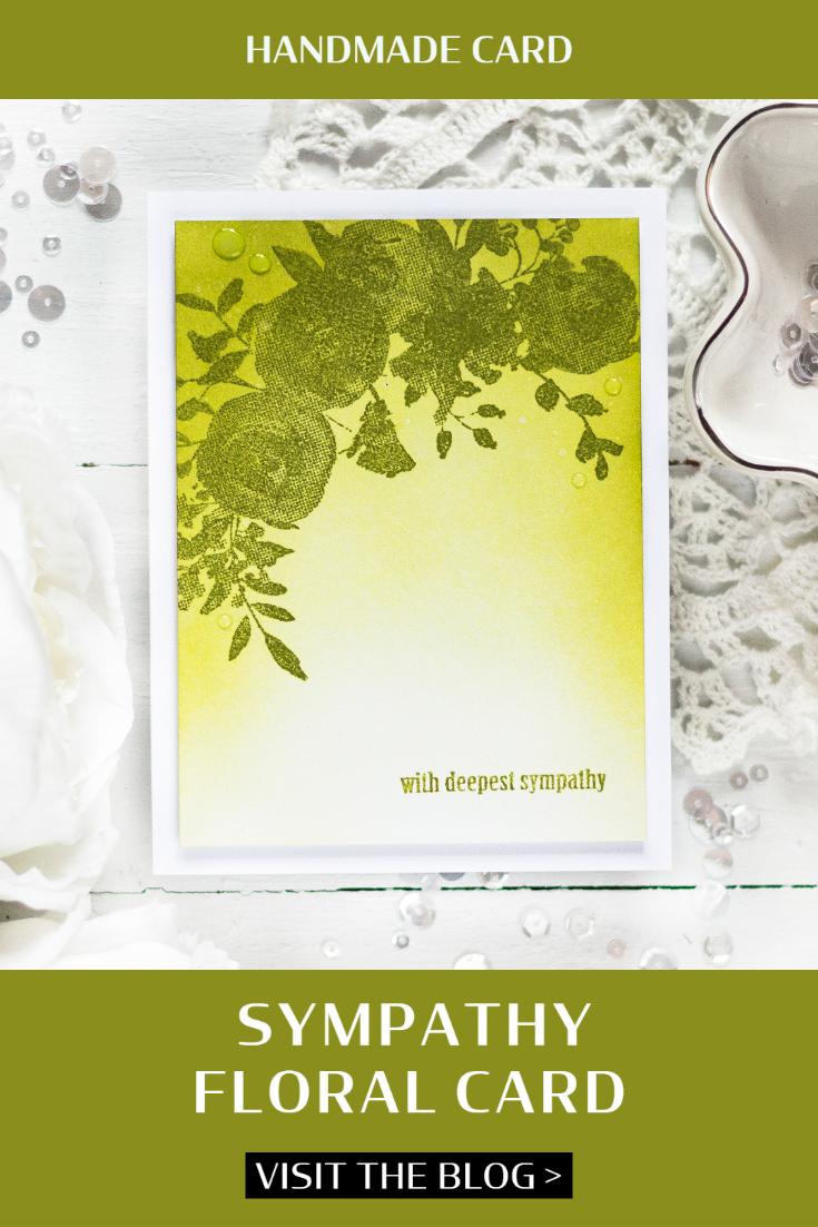 Handmade Sympathy Floral Card. Card by Svitlana Shayevich