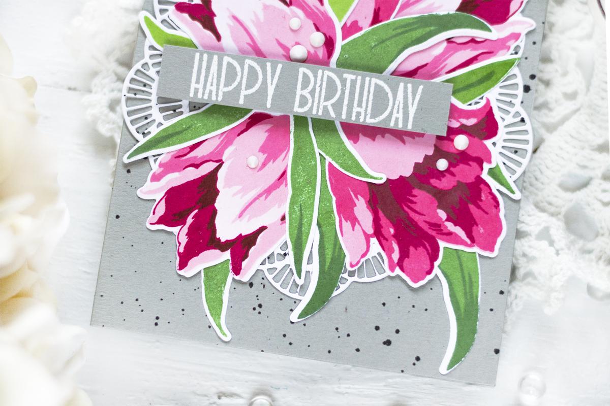 Tulip Birthday Card. Card by Svitlana Shayevich