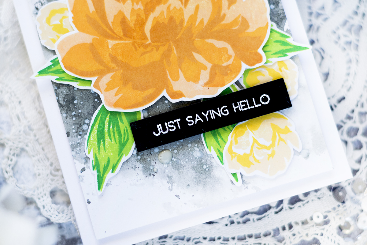 Floral Hello Card. Card by Svitlana Shayevich