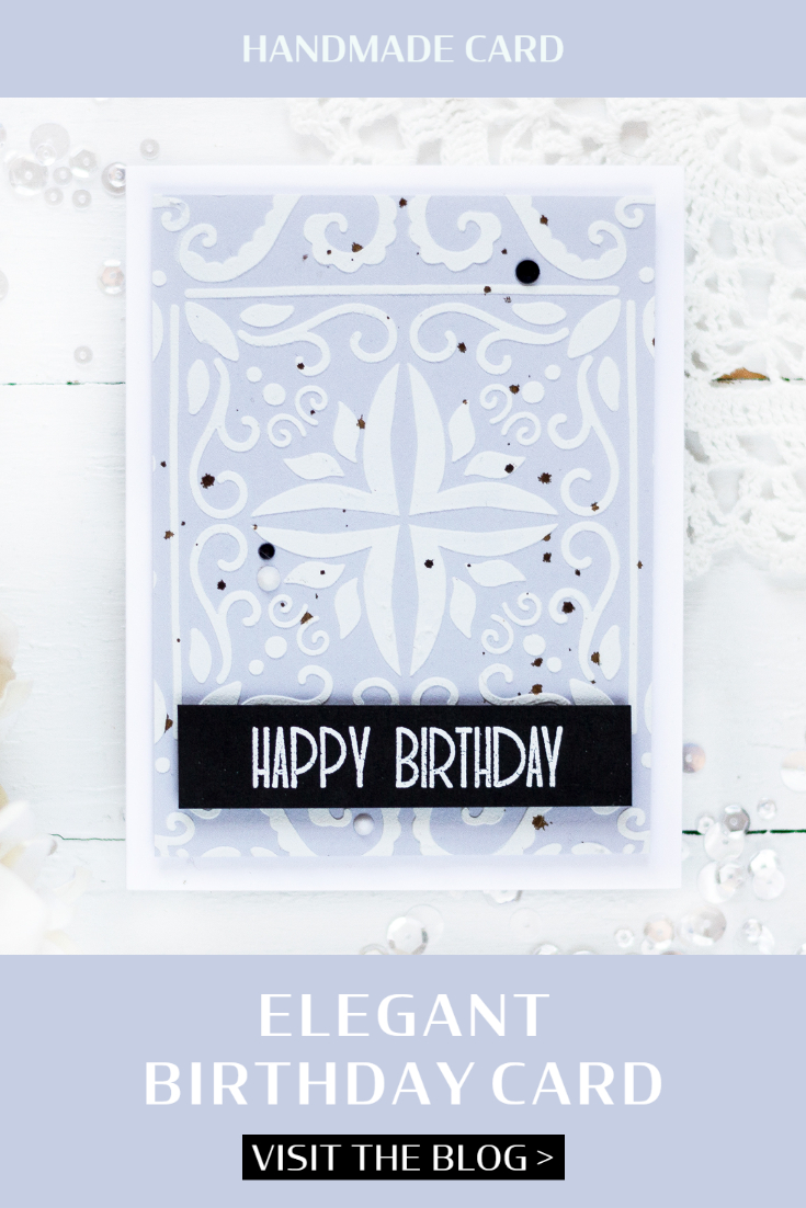 Elegant Birthday Card. Card by Svitlana Shayevich