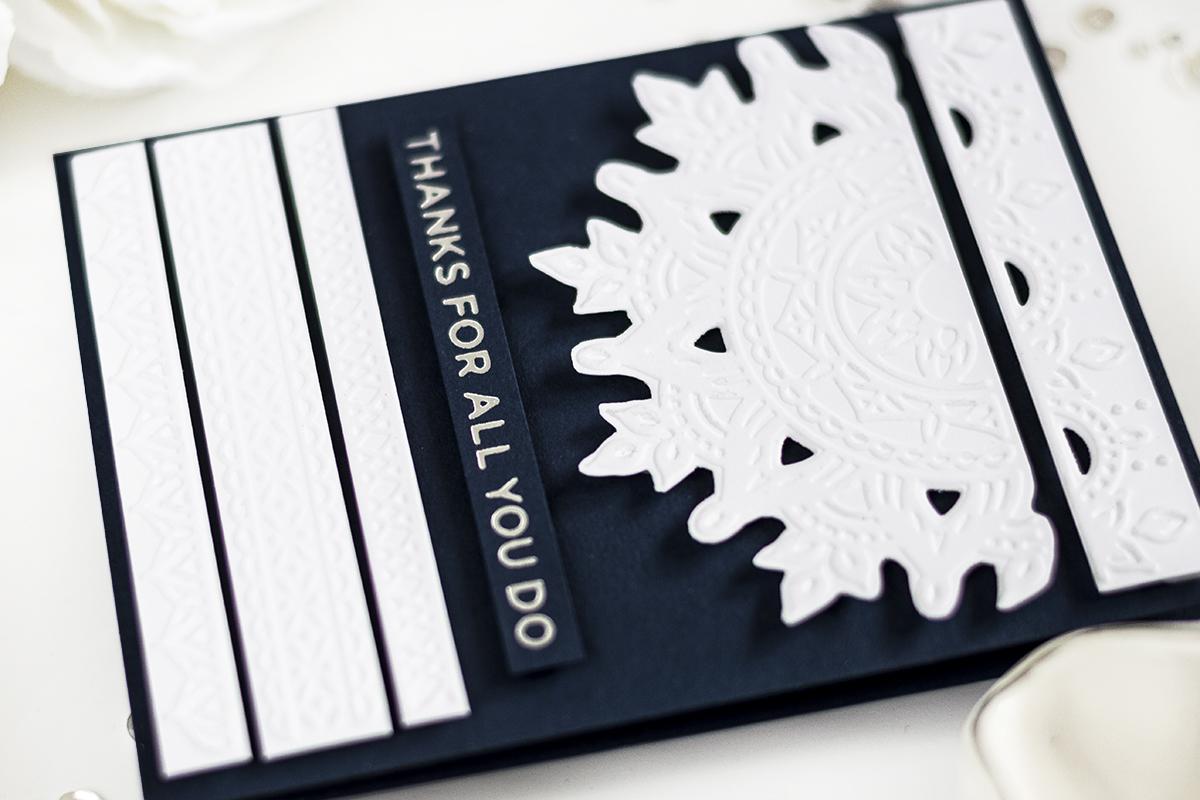 Creative Use Of Embossing Folders. Card by Svitlana Shayevich