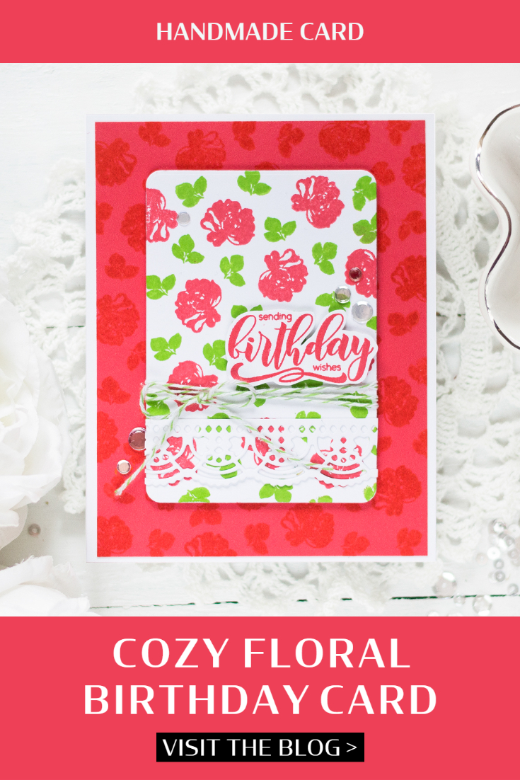 Cozy Floral Birthday Card. Card by Svitlana Shayevich