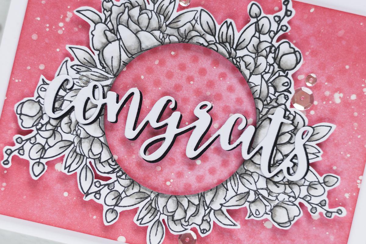 Elegant Floral Wreath Card. Card by Svitlana Shayevich