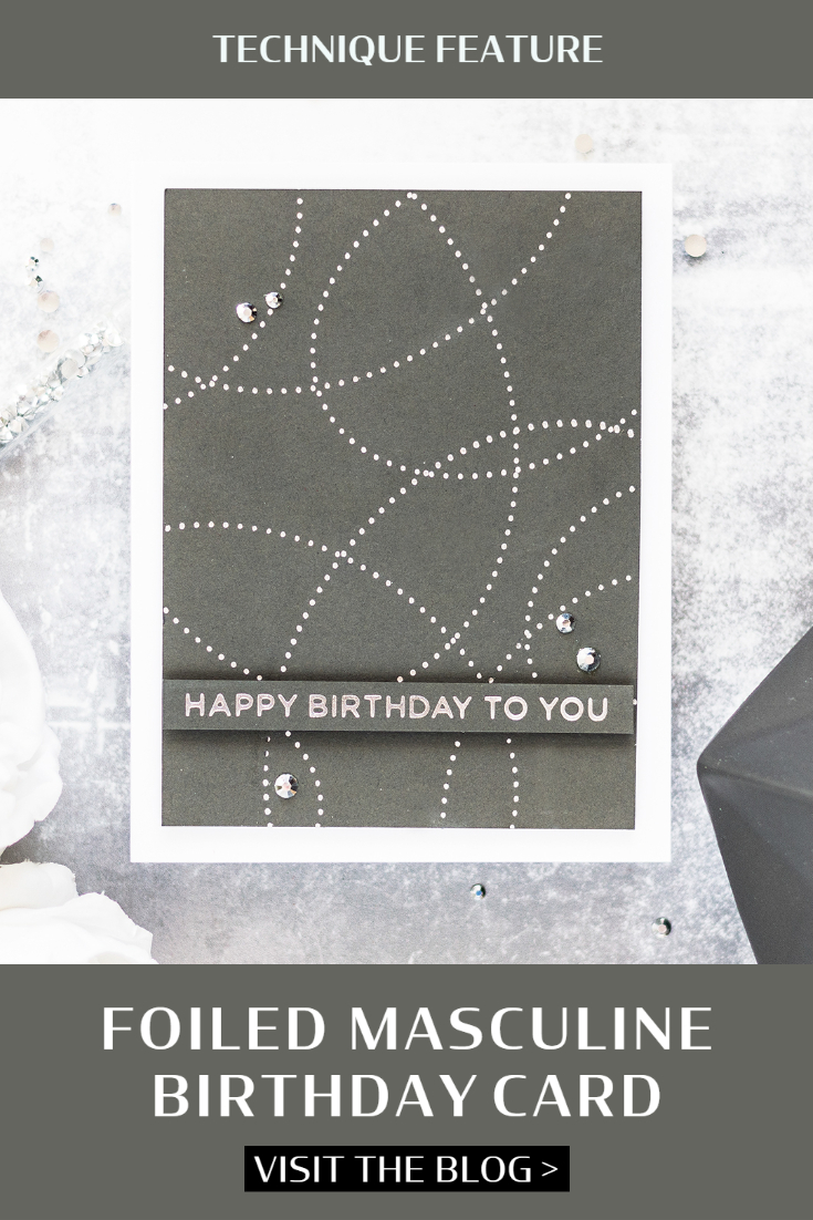 Foiled Masculine Birthday Card. Card by Svitlana Shayevich
