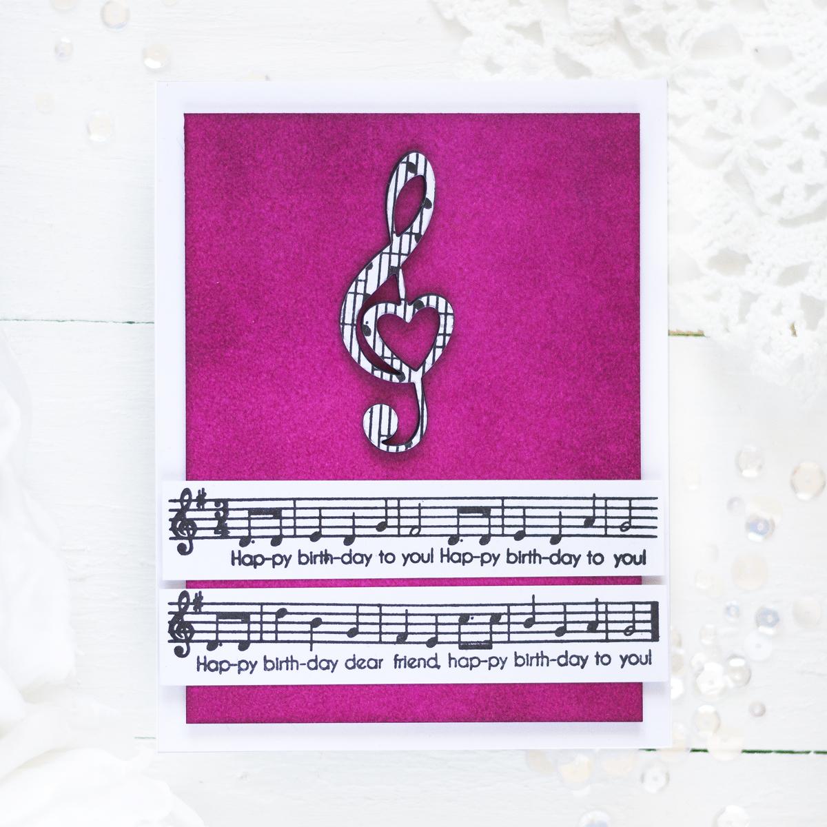 Treble Clef Birthday Card. Card by Svitlana Shayevich