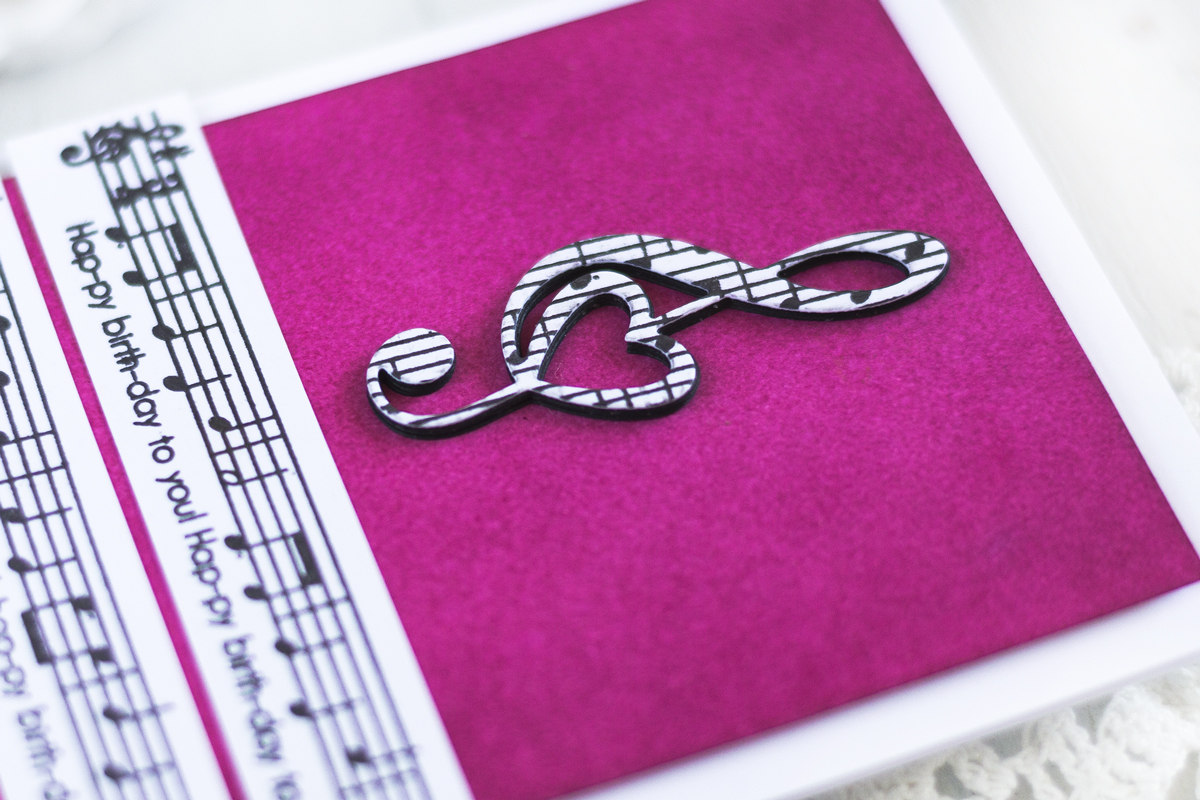 Treble Clef Birthday Card. Card by Svitlana Shayevich