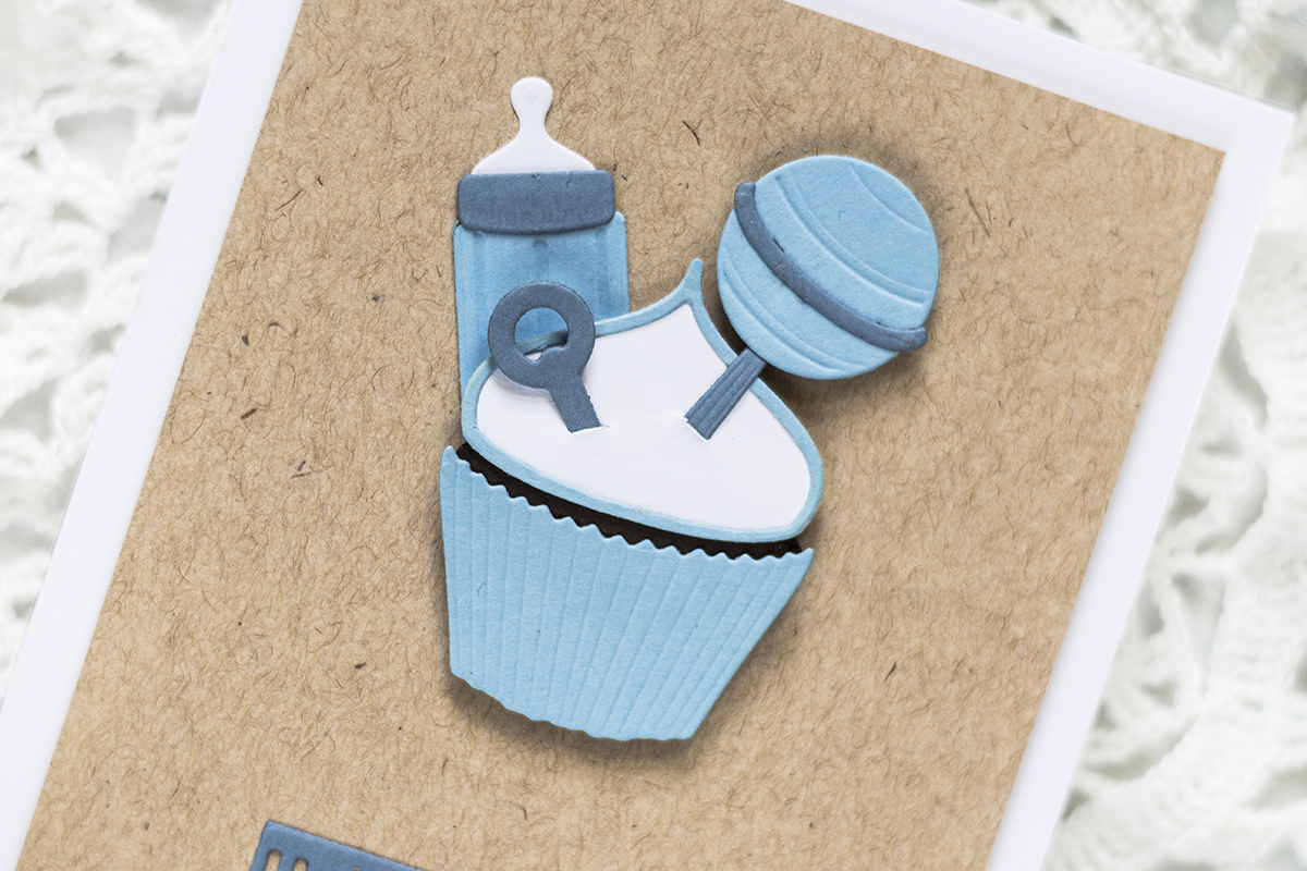 Quick and Easy It's a Boy Card. Card by Svitlana Shayevich