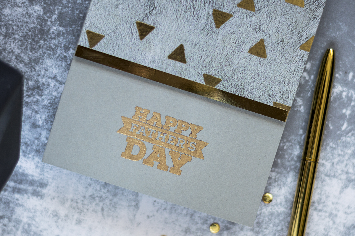 Concrete and Gold Father's Day Card. Card by Svitlana Shayevich