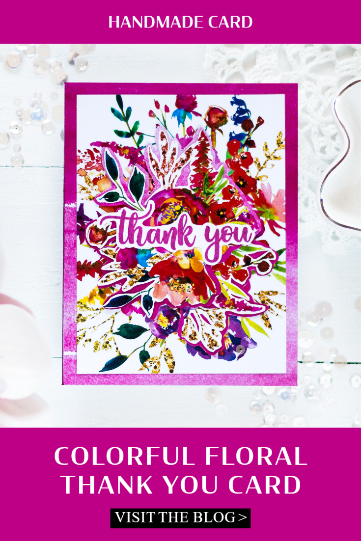 Colorful Thank You Card. Card by Svitlana Shayevich