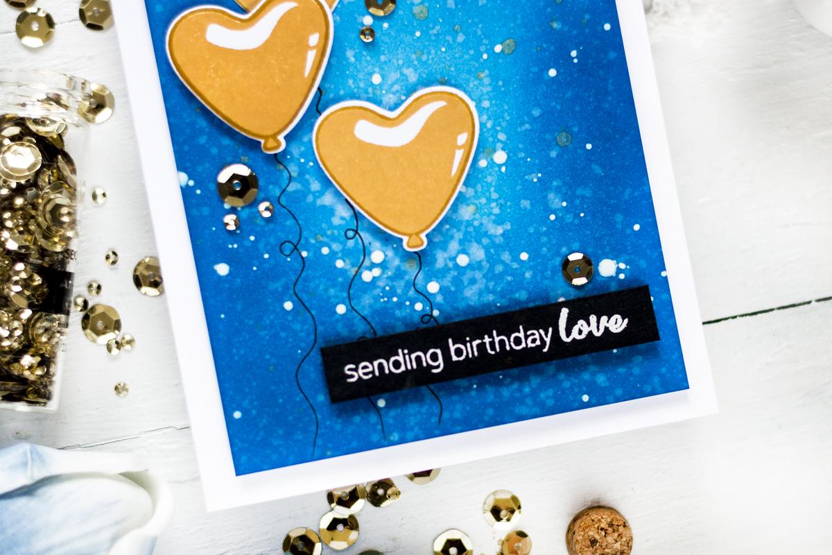 Fun Birthday Balloon Card. Card by Svitlana Shayevich