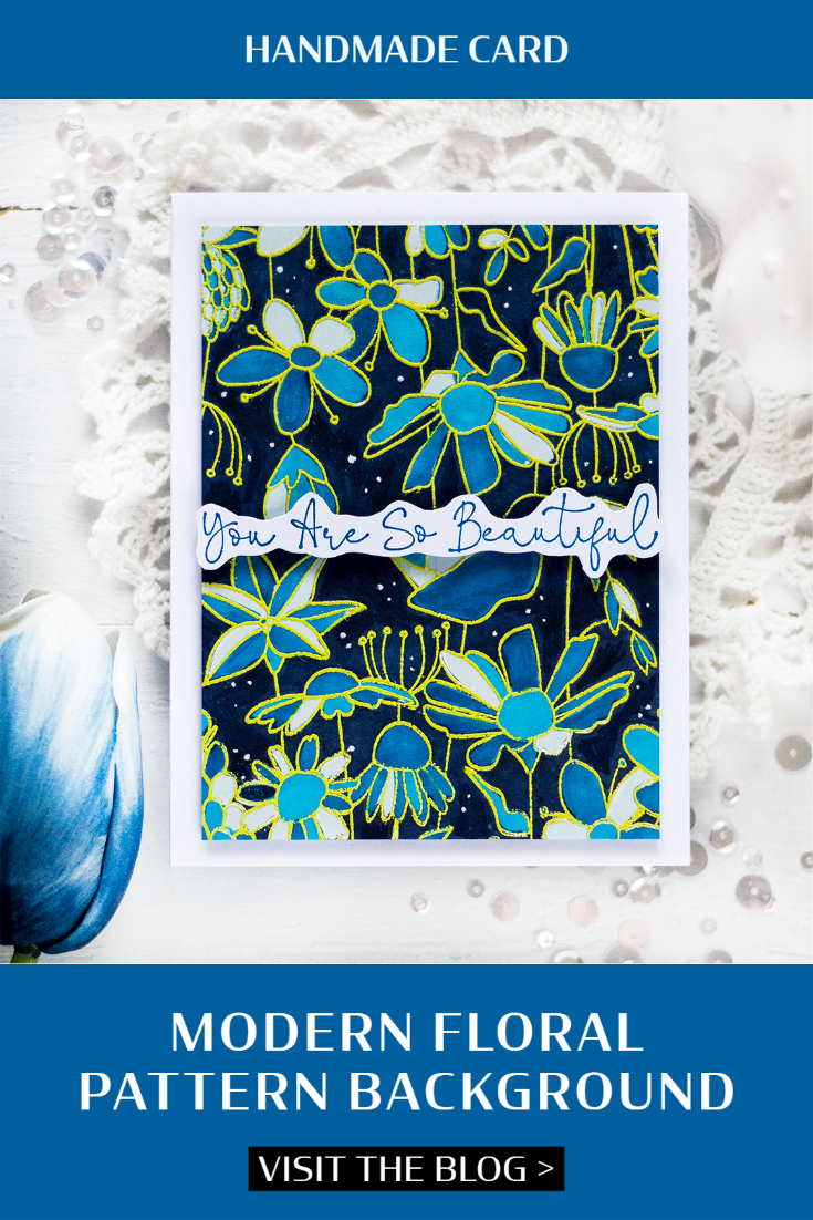 Modern Floral Pattern Background. Card by Svitlana Shayevich