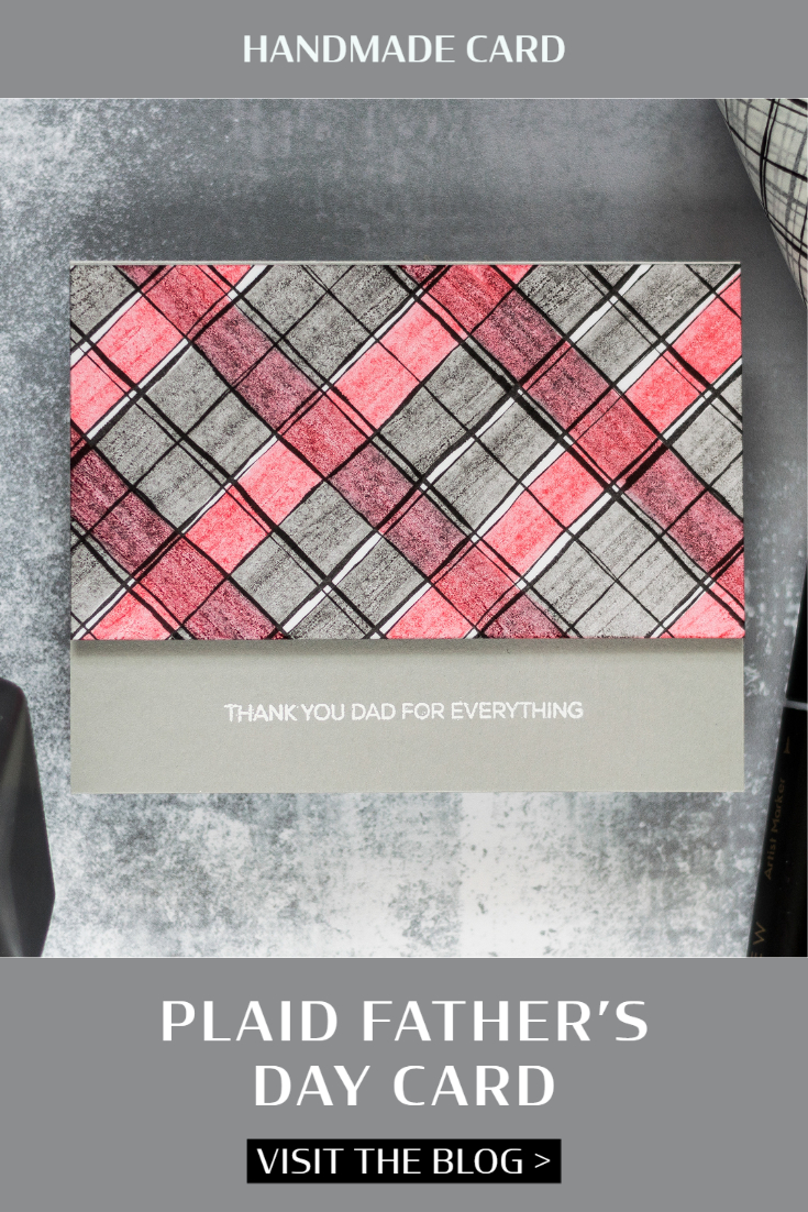 Plaid Father's Day Card. Card by Svitlana Shayevich
