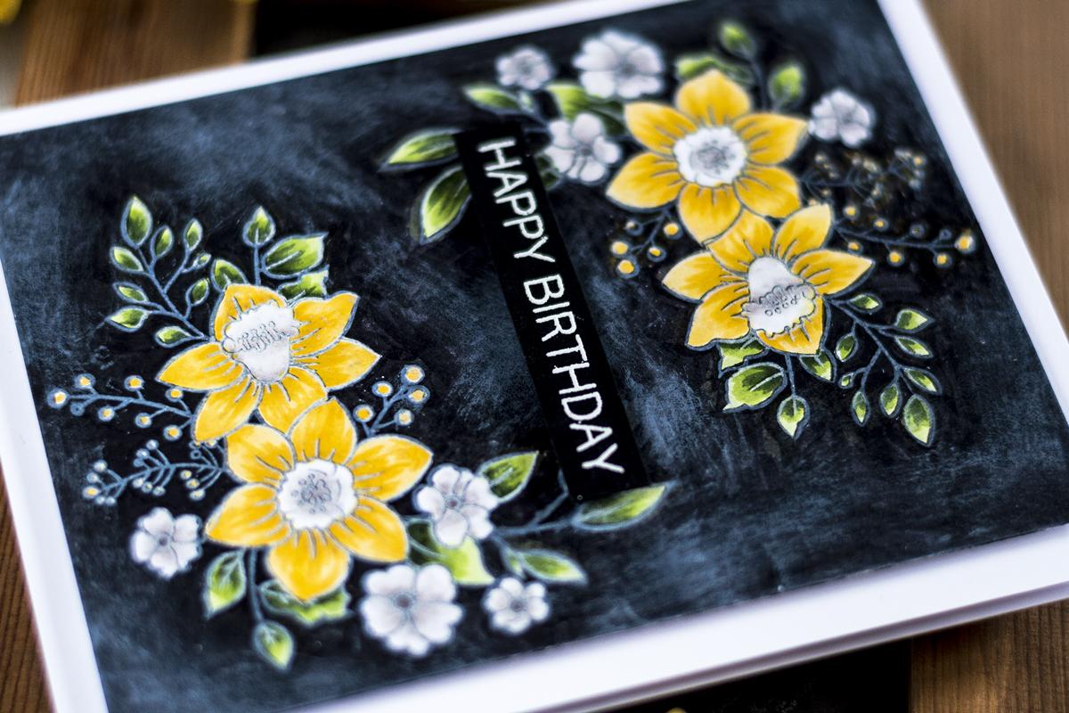 Easy Faux Chalkboard Card. Card by Svitlana Shayevich