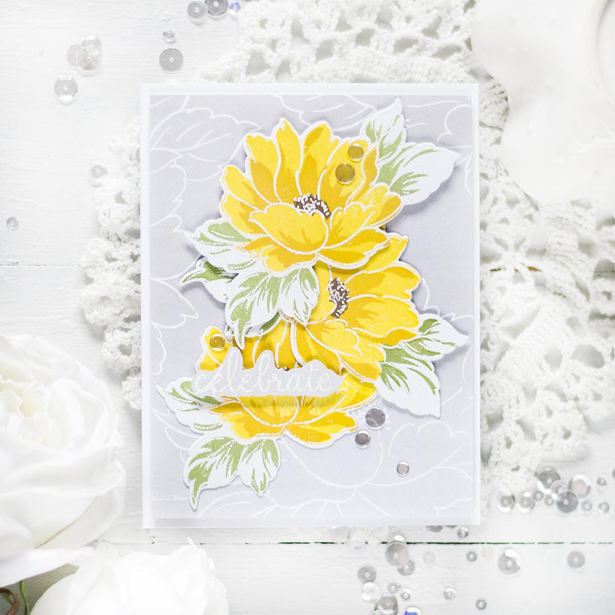 Elegant Floral Card. Card by Svitlana Shayevich