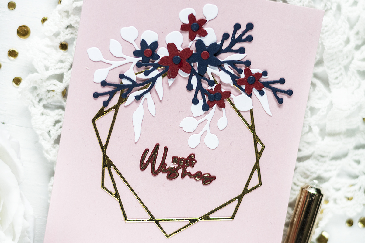 Geometric Floral Frame. Card by Svitlana Shayevich