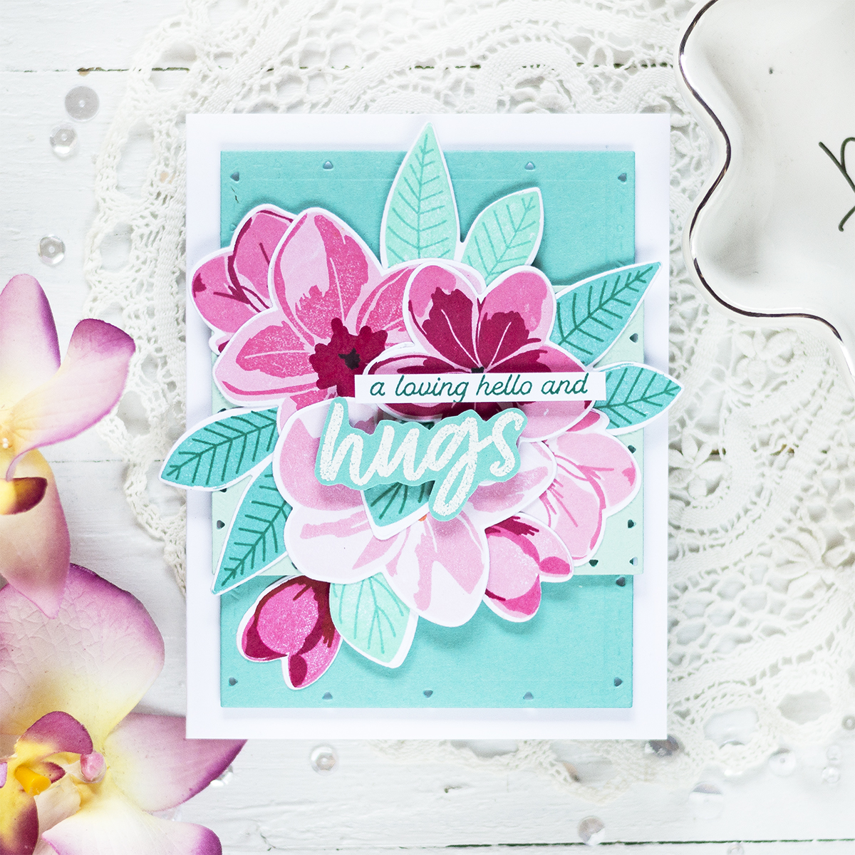 Bright Floral Card. Card by Svitlana Shayevich