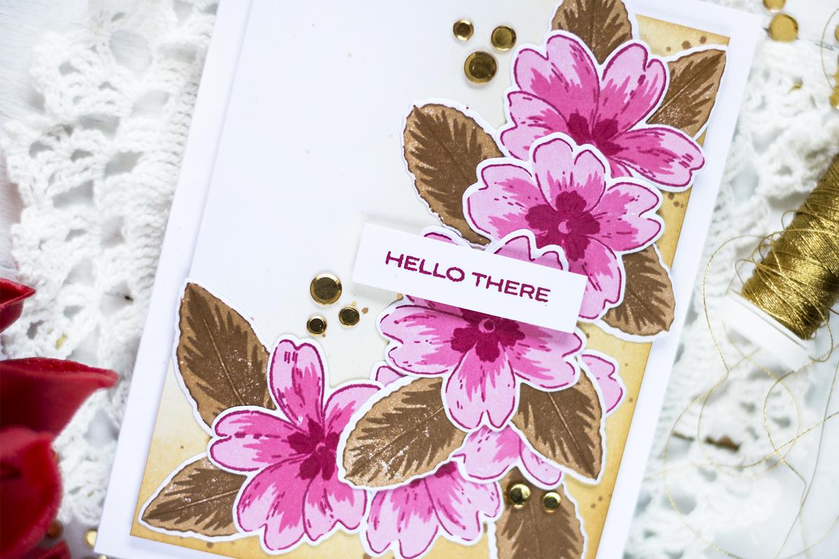 Primrose Hello Card. Card by Svitlana Shayevich
