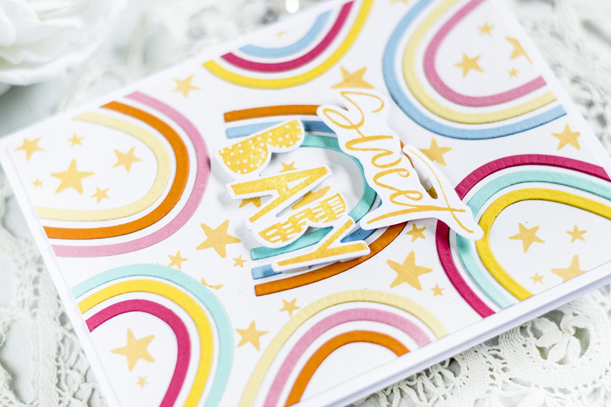 Sweet baby Rainbow Card. Card by Svitlana Shayevich