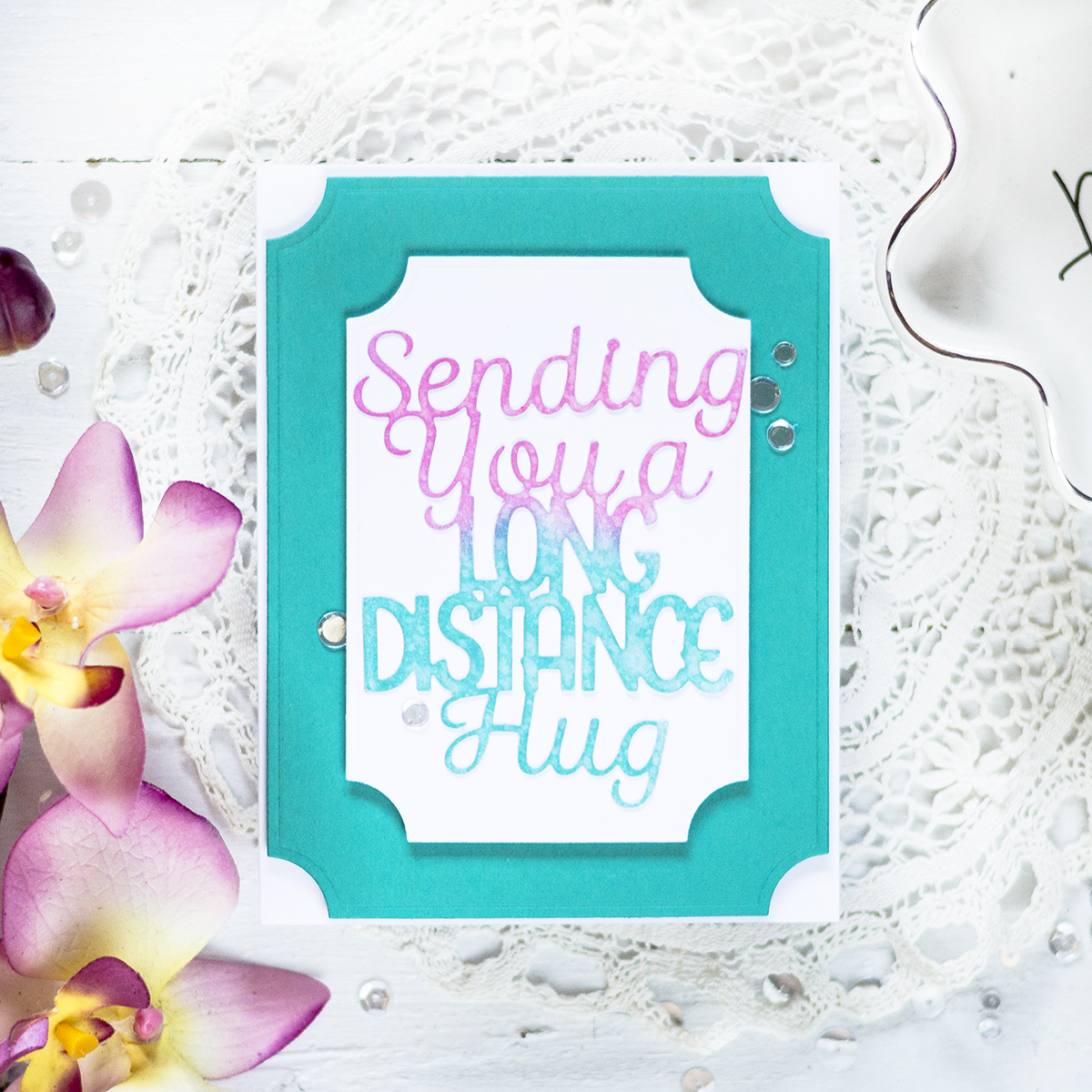 Long Distance Hugs Card. Card by Svitlana Shayevich