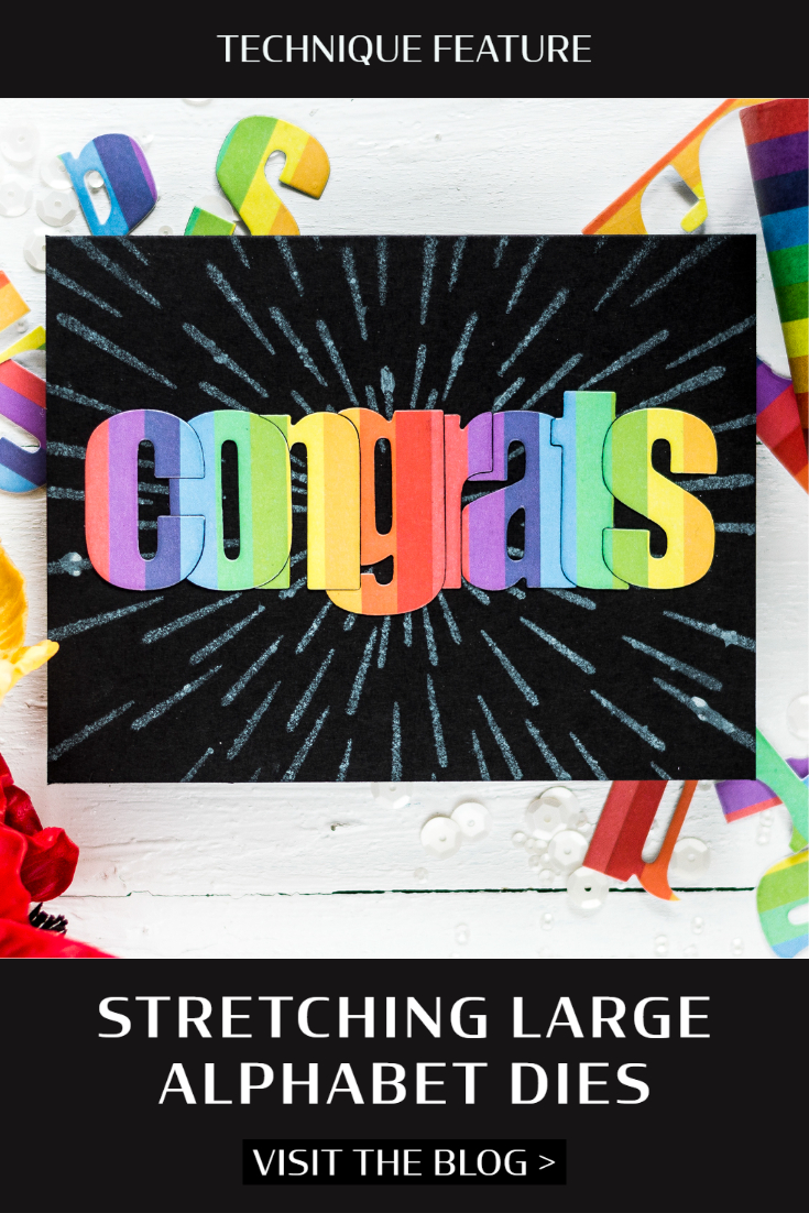 Stretching Large Alphabet Dies . Card by Svitlana Shayevich