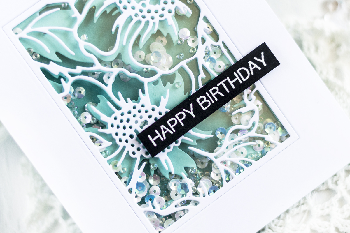 Easy Two Layer Shaker. Card by Svitlana Shayevich