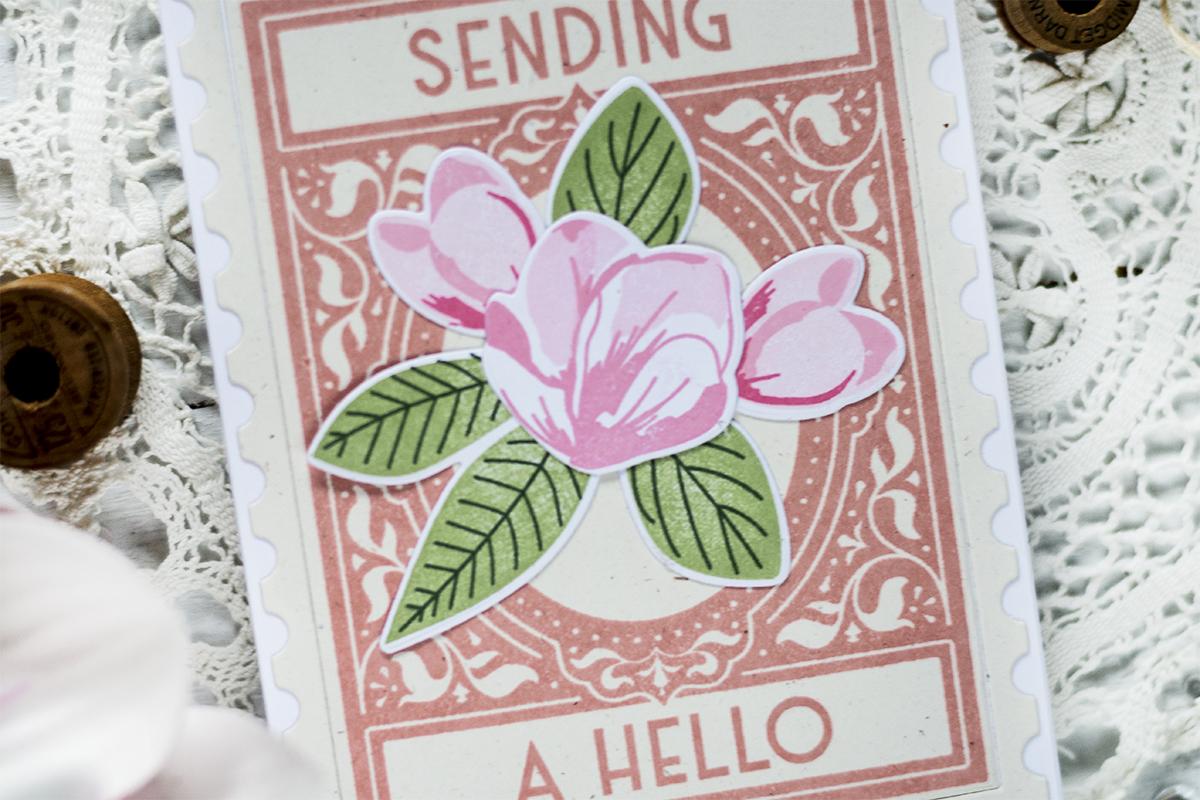 Vintage Postage Stamp Card. Card by Svitlana Shayevich