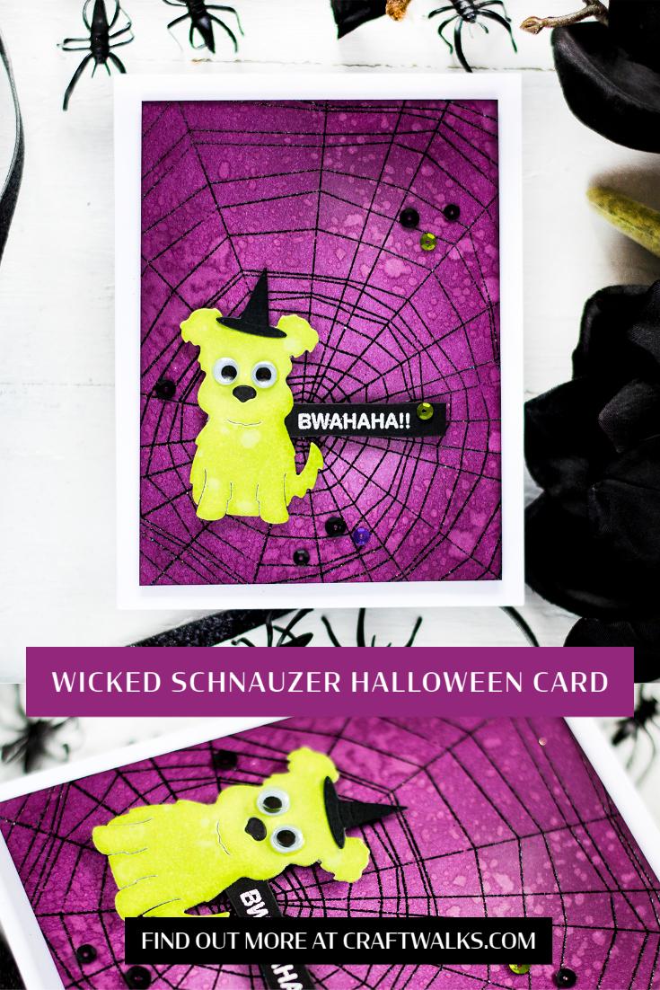 Wicked Schnauzer Halloween Card. Card by Svitlana Shayevich