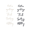 Spellbinders Yana's Sentiments Glimmer Hot Foil Plate & Die Set