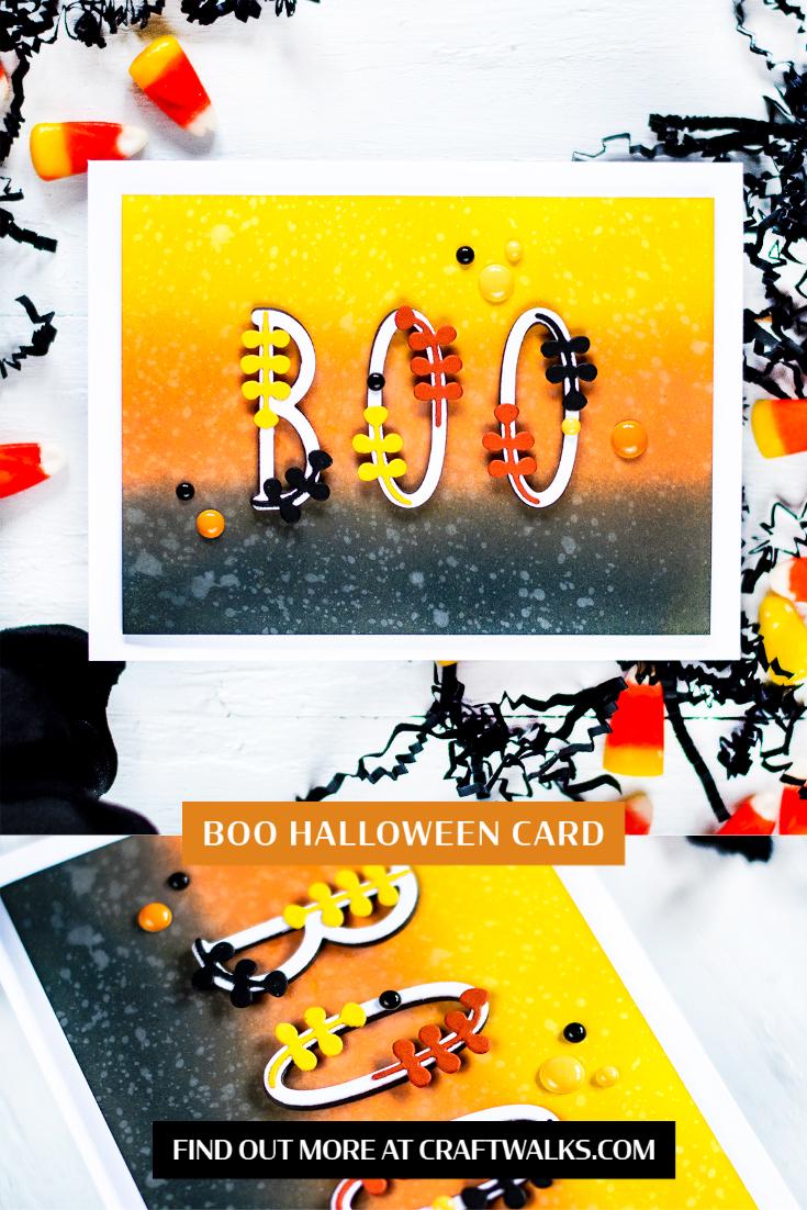 Boo Halloween Card. Card by Svitlana Shayevich