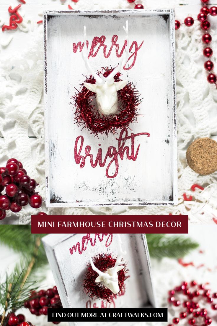 Mini Farmhouse Christmas Decor. Decor by Svitlana Shayevich