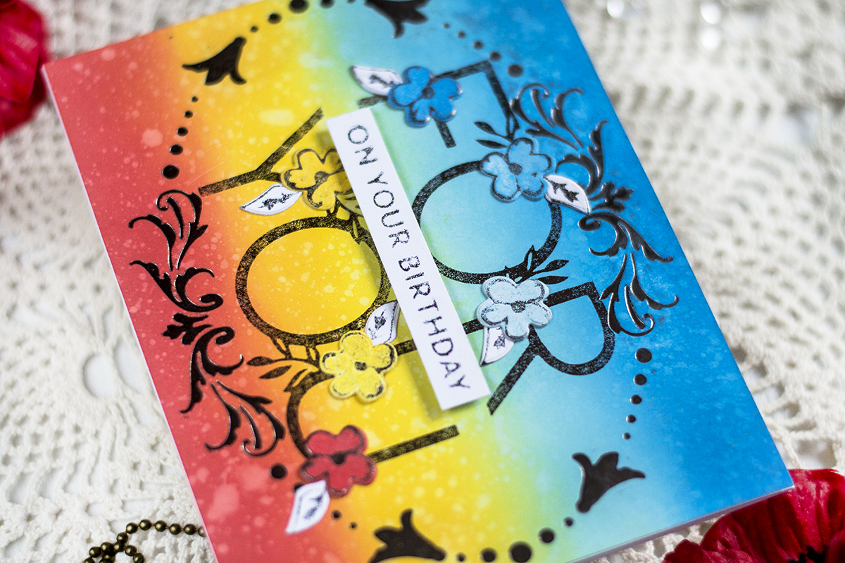 Hot Foil Birthday Card. Cards by Svitlana Shayevich
