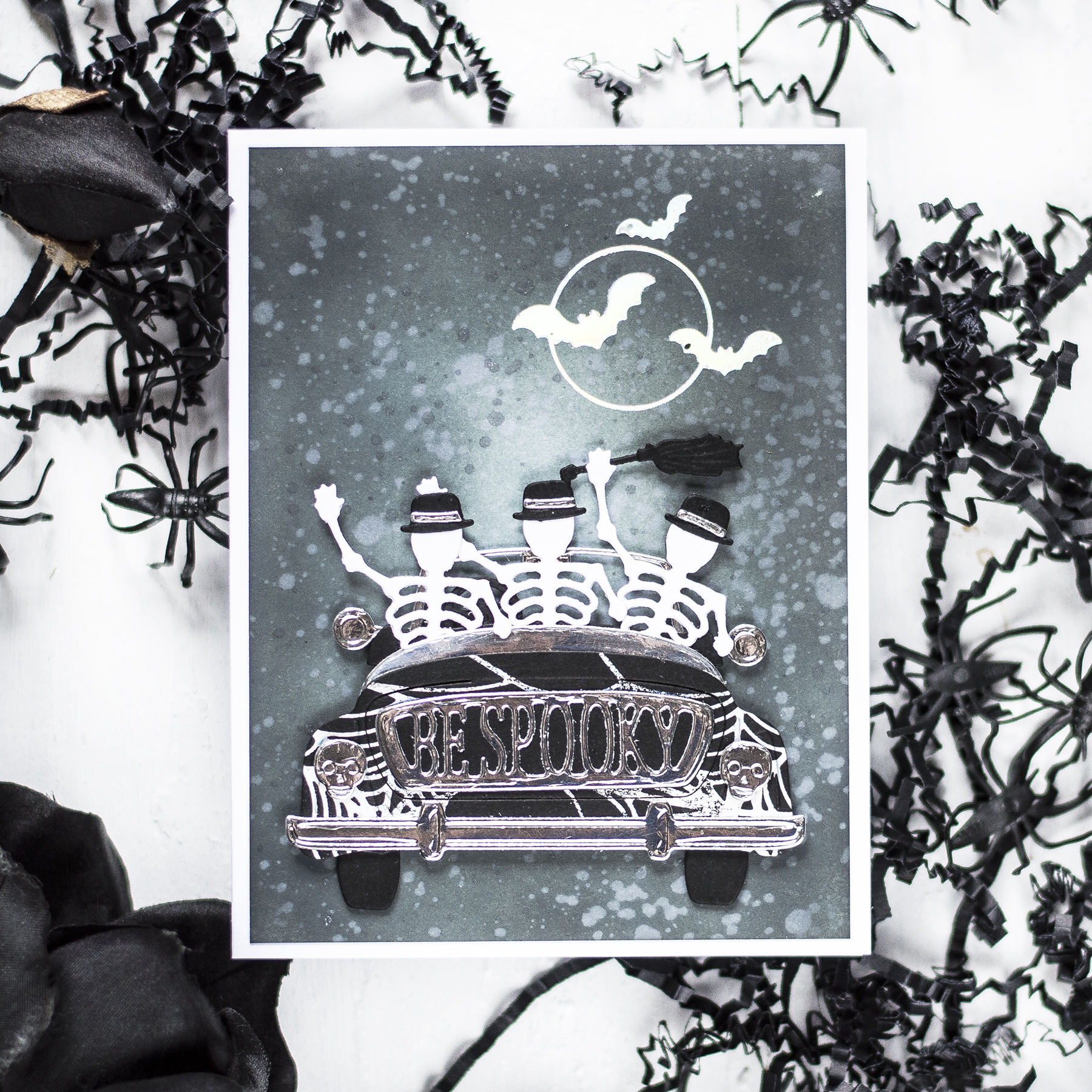 Spooky Drive Halloween Card. Card by Svitlana Shayevich