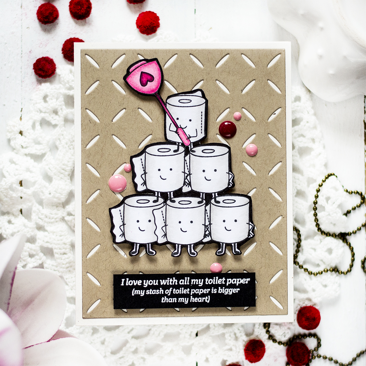 Fun Toilet Paper Card. Card by Svitlana Shayevich