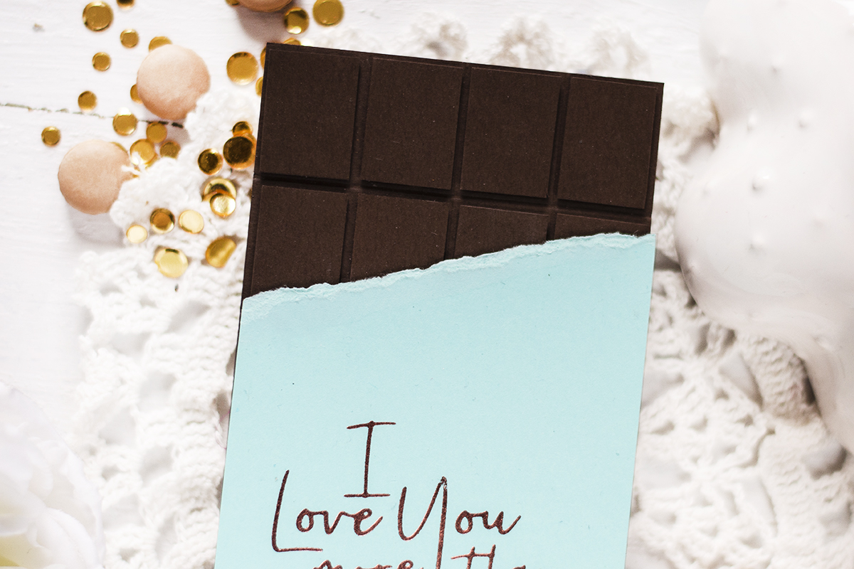 Chocolate Bar Card. Card by Svitlana Shayevich