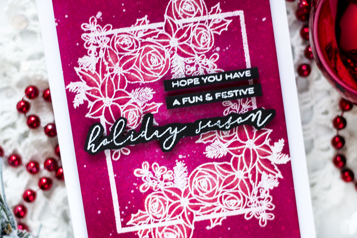 Monochromatic Festive Frame Card. Cards by Svitlana Shayevich