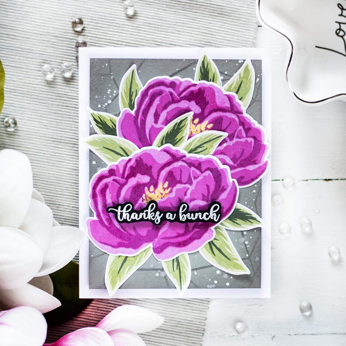 Dramatic Peony Card. Card by Svitlana Shayevich
