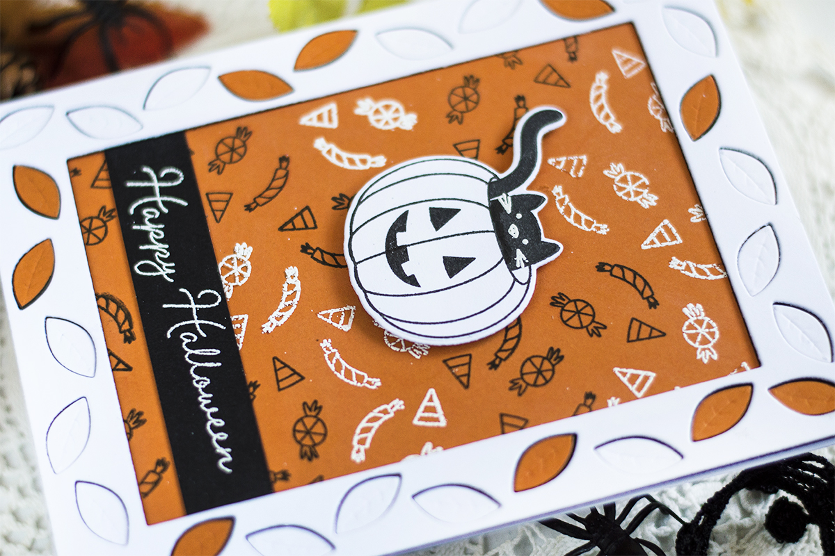 Candy Background Halloween Card. Card by Svitlana Shayevich