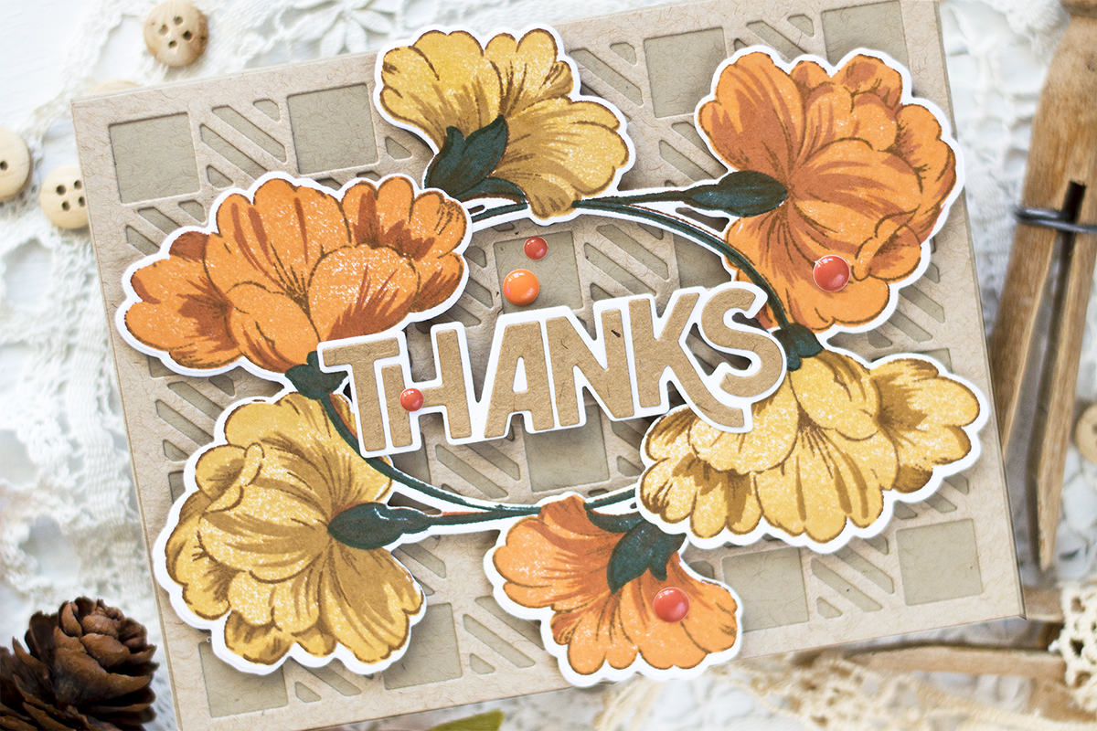 Cozy Floral Fall Card. Card by Svitlana Shayevich