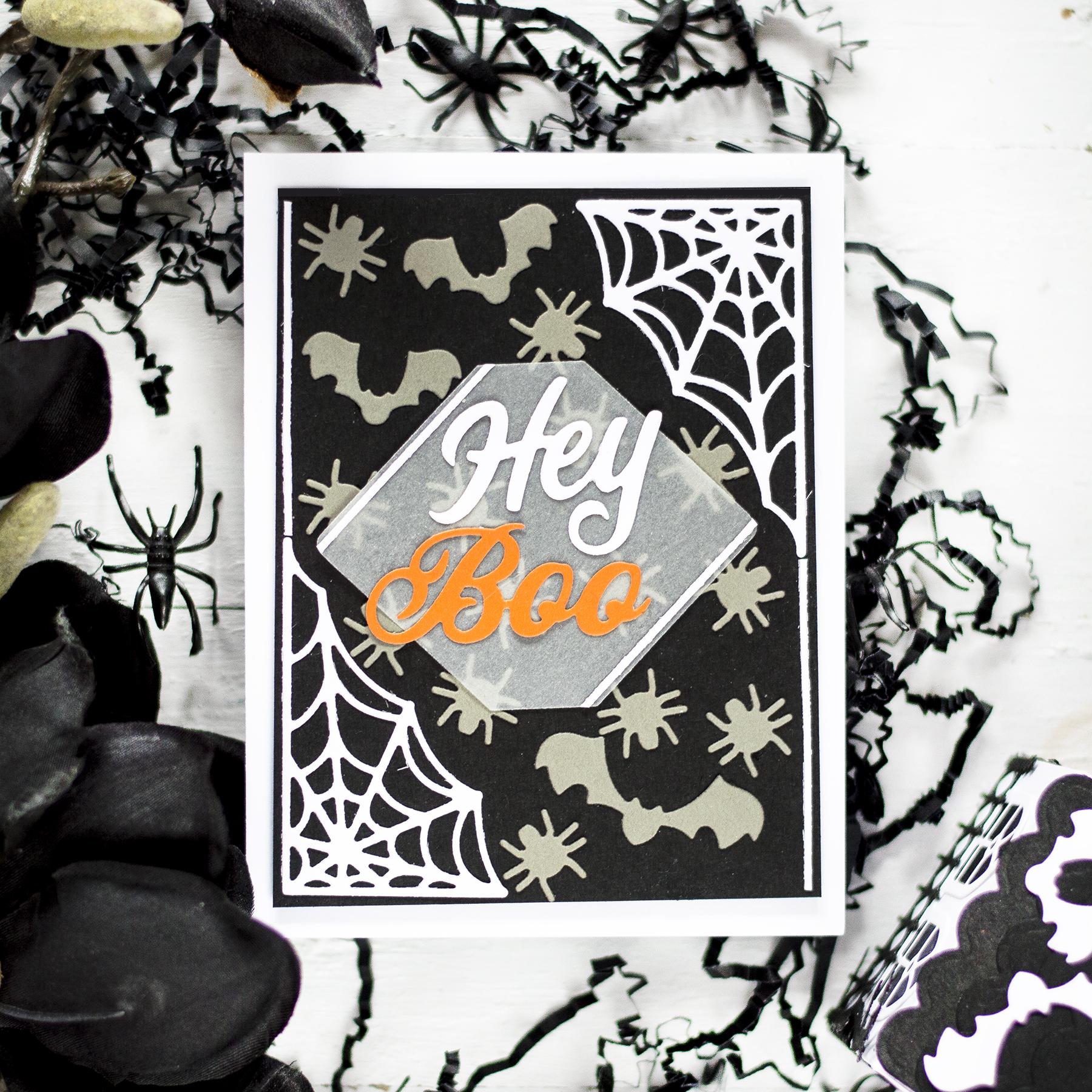 Halloween Die Cut Card. Card by Svitlana Shayevich