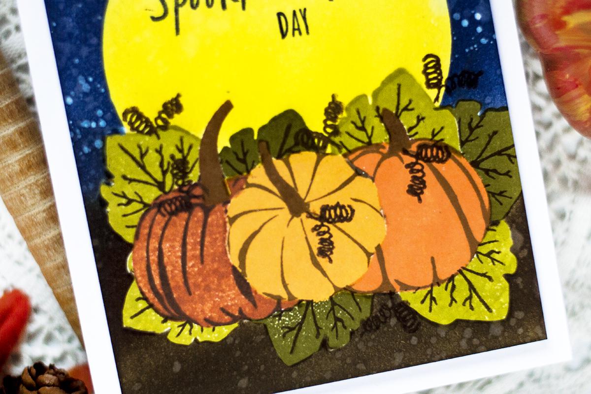 Halloween Pumpkin Patch Card. Card by Svitlana Shayevich