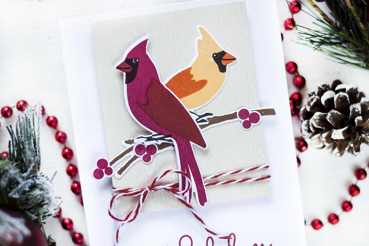 Cardinal Christmas Card. Project by Svitlana Shayevich