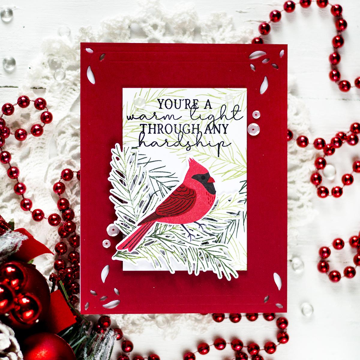 Simple Cardinal Christmas Card. Card by Svitlana Shayevich