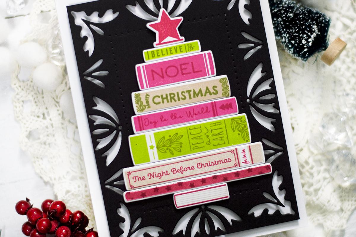 Christmas Books Decor Card. Card by Svitlana Shayevich